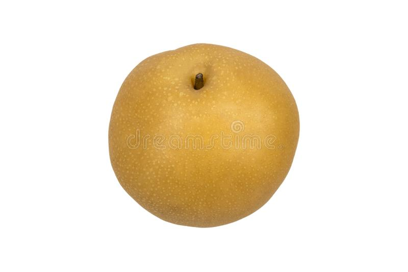 Detail of a delicious asian pear stock photos