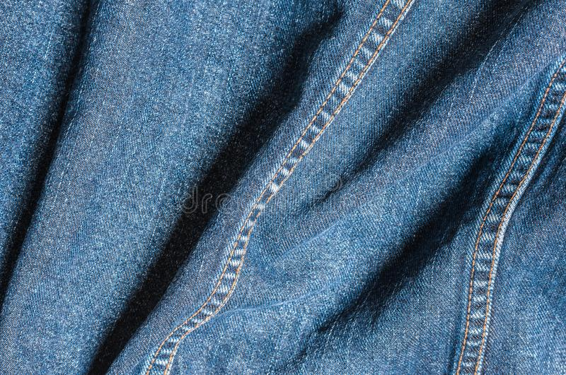 Detail of a denim jacket royalty free stock images