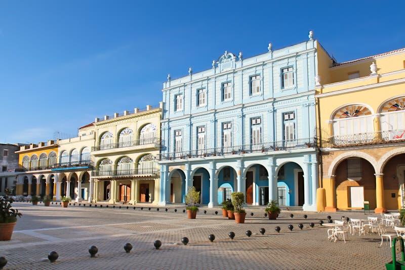 Detail der alten Havana-Piazzas Vieja stockfotografie