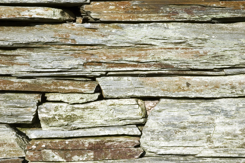 Detail der Drystone Wand. stockbilder