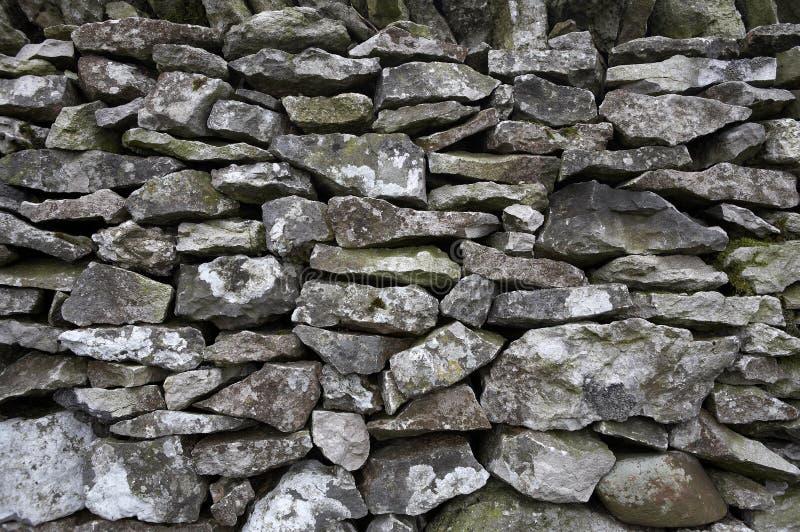 Detail der Drystone Wand stockbilder
