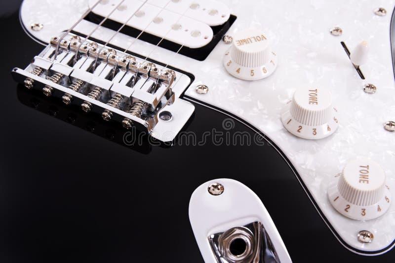 Detail der elektrischen Gitarre stockfoto