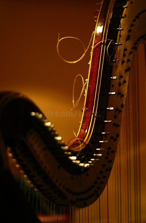 Detail der Harfe stockfotografie