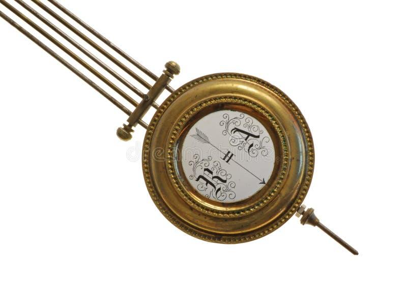 Detail der historischen mechanischen Borduhr lizenzfreie stockfotos