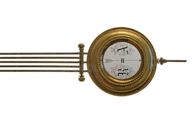 Detail der historischen mechanischen Borduhr lizenzfreies stockfoto
