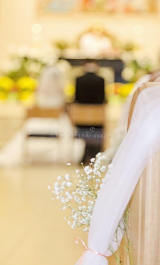 Detail der kirchlichen Hochzeit stockbild