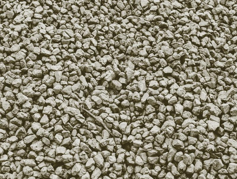 Detail der Kohle der niedrigen Qualität im Haufen Zerquetschter Anthrazit stockbilder