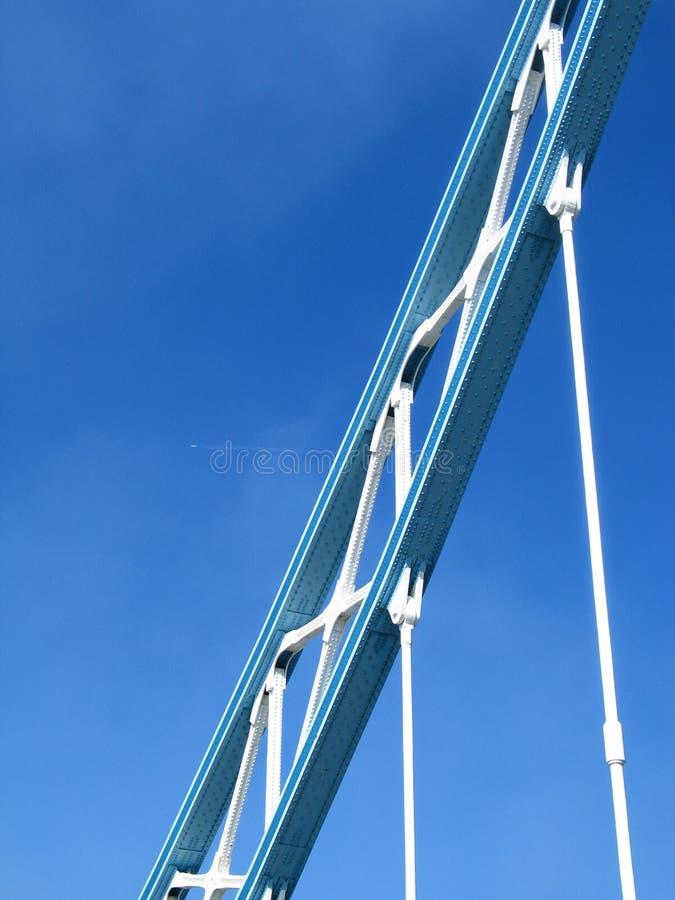 Detail der London-Kontrollturmbrücke stockbild