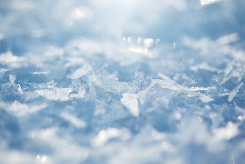 Detail der Schneewehe Schließen Sie oben vom weißen Schnee lizenzfreie stockbilder