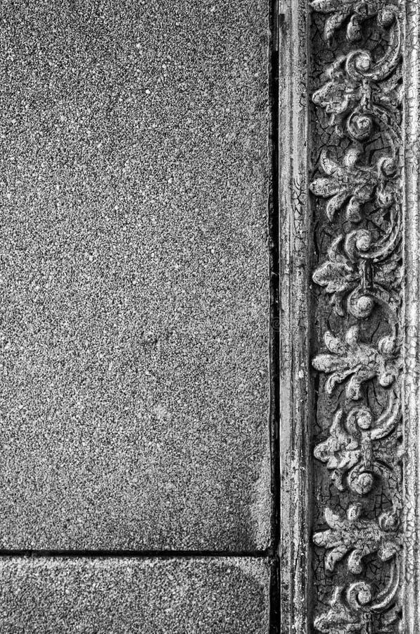 Detail in der Seite des Altbaus stockfoto