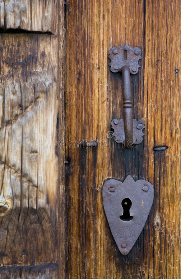 Detail der Tür stockfotografie