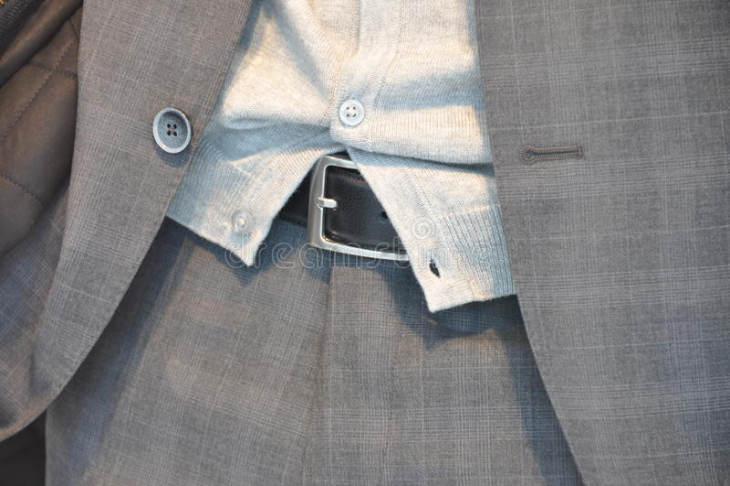 Detail des Anzugs stockbild