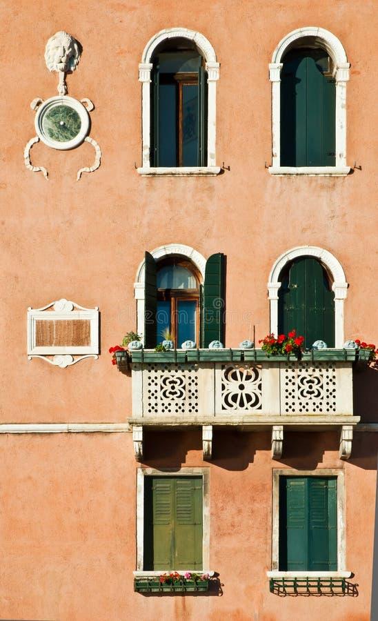 Detail des Aufbauens in Venedig lizenzfreie stockfotografie