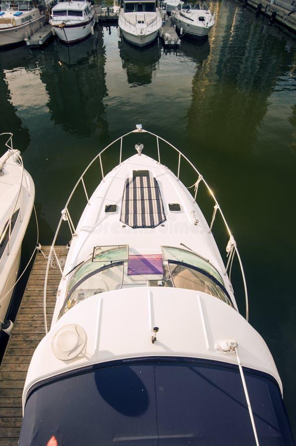 Detail des Bootes in Toronto-Ufergegend stockfotos