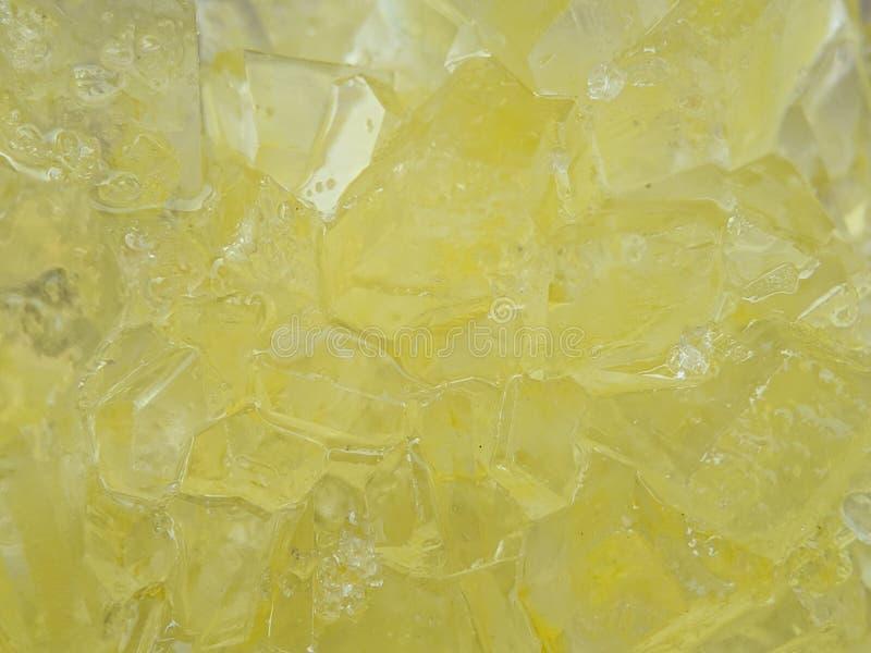 Detail des braunen Felsenzuckers auf Makroschuß lizenzfreies stockbild