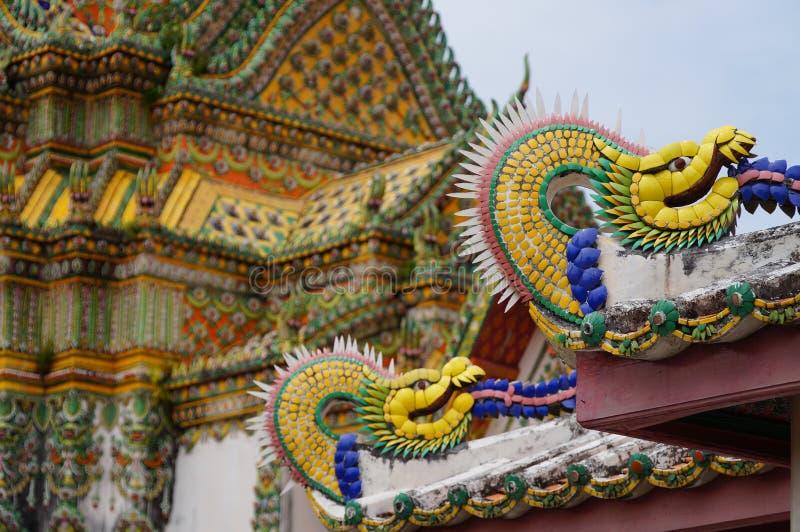 Detail des buddhistischen Tempels von Wat Po stockbild