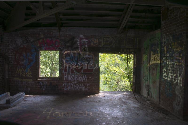 Detail des historischen Gebäudes des Verschlusses 19 auf dem Ohio stockfotos