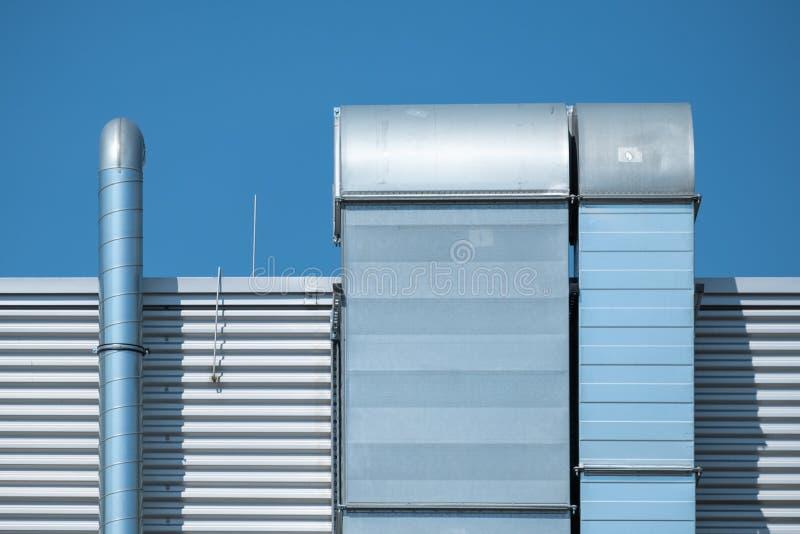 Detail des Industriegebäudes lizenzfreie stockbilder