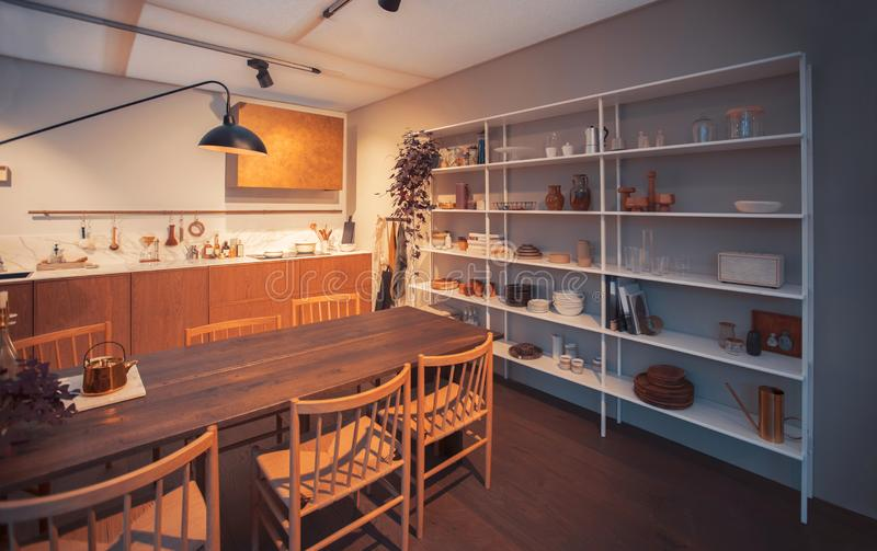 Detail des Kücheninnenraums stockbilder