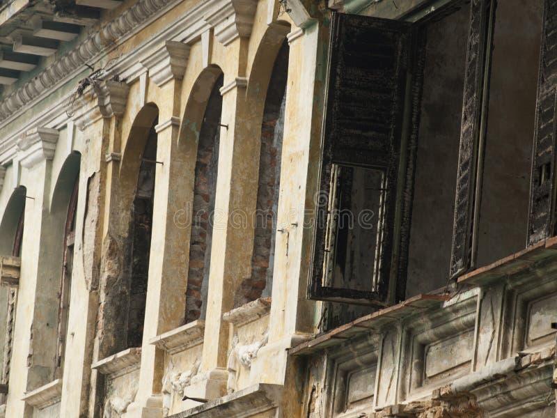 Detail des Kolonialhauses stockbilder