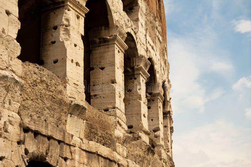 Detail des Kolosseums, Rom. lizenzfreie stockbilder