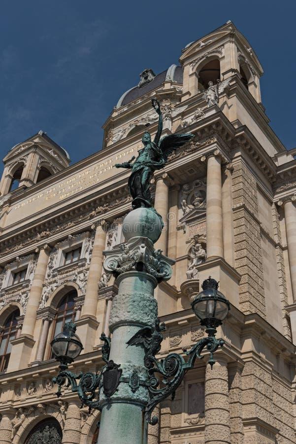 Detail des nationalen Geschichtsmuseums Wiens stockfotos
