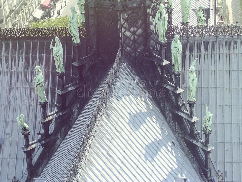 Detail des Notre Dame de Paris lizenzfreies stockfoto