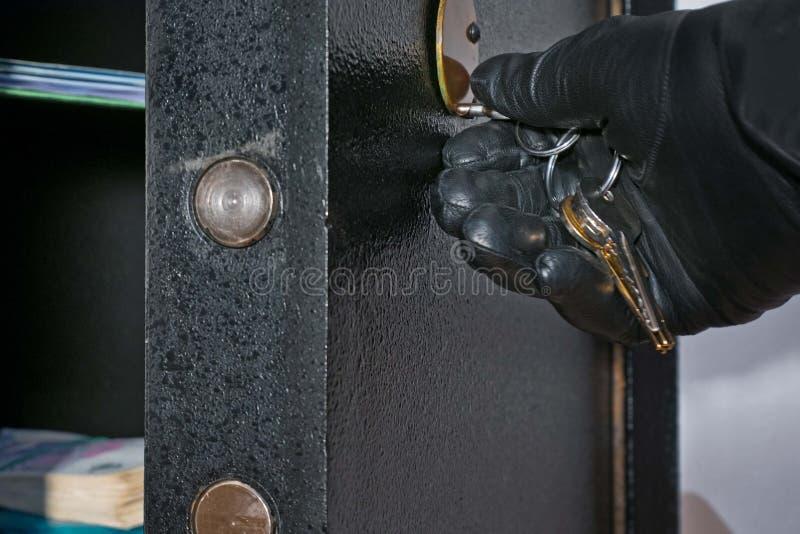 Detail des offenen Safes lizenzfreies stockbild