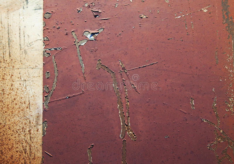 Detail des rostigen Metallstückes stockbild