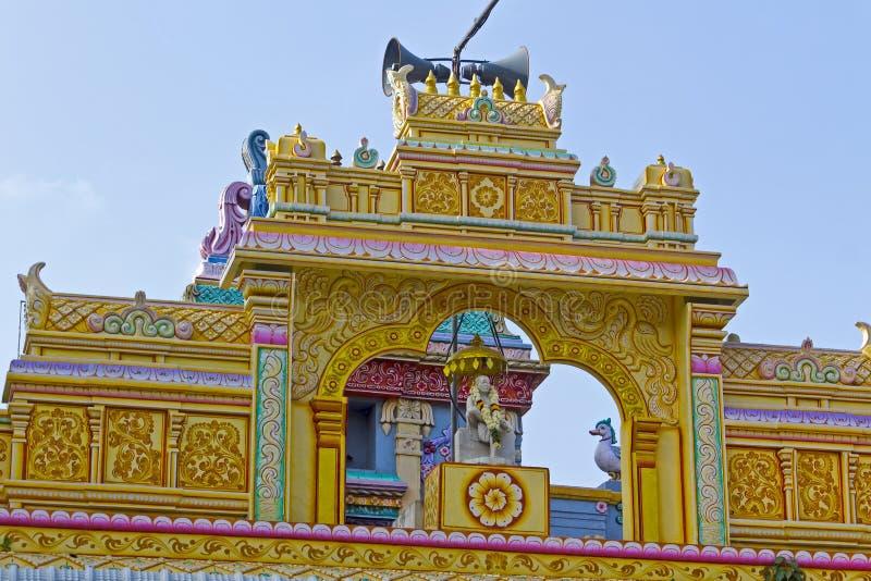 Detail des Tempels Shirdi Sai in Chennai stockfotos