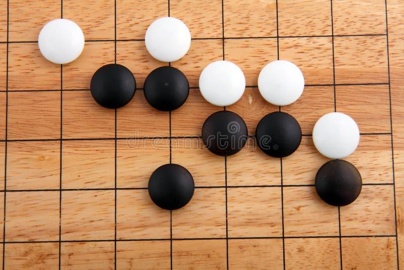 Detail des traditionellen japanischen Spiels GEHEN stockfoto