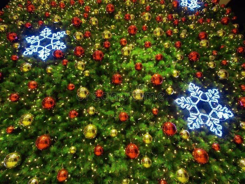 Detail des Weihnachtsbaums stockfotografie