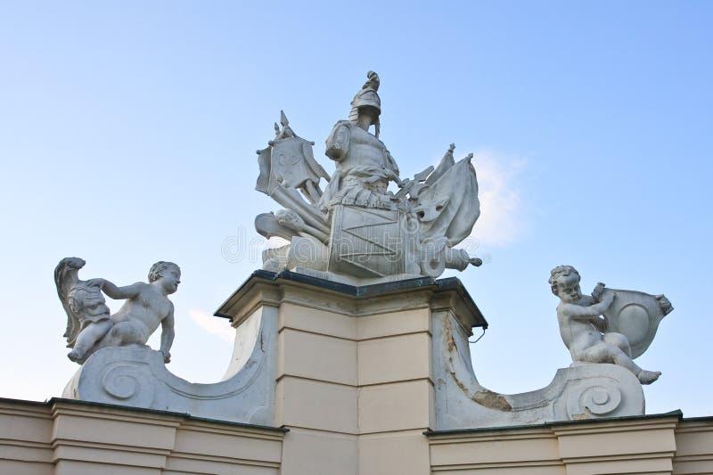 Detail des Zauns Oberer Belvedere wien Österreich stockfotografie
