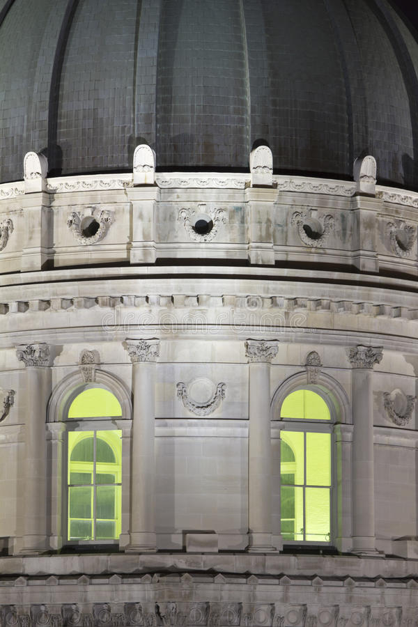 Detail des Zustand-Kapitol-Gebäudes in Indianapolis stockbild