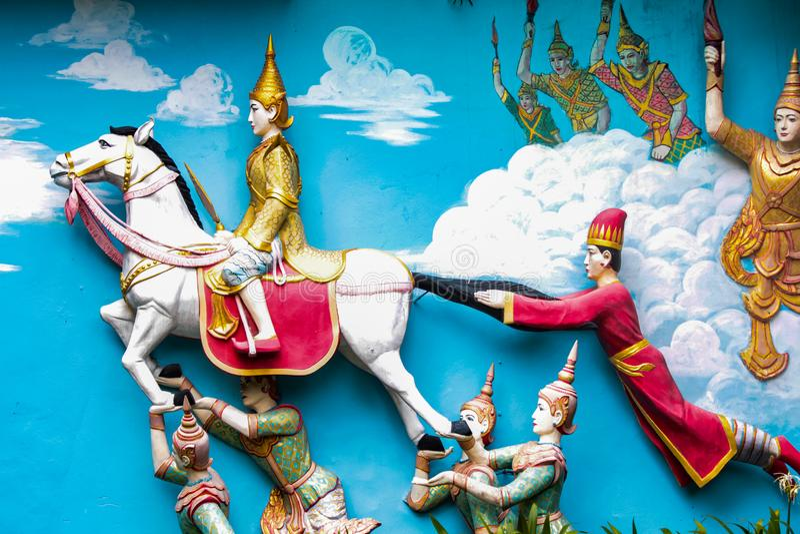 Dhamikarama Burmese Temple in Penang, Malaysia stock images
