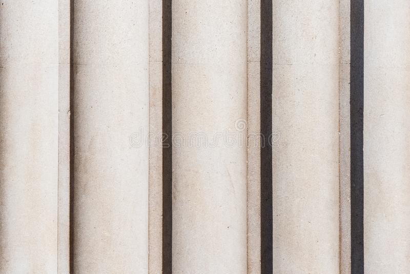 Detail die van fluting verticaal op een klassieke kolom lopen stock fotografie