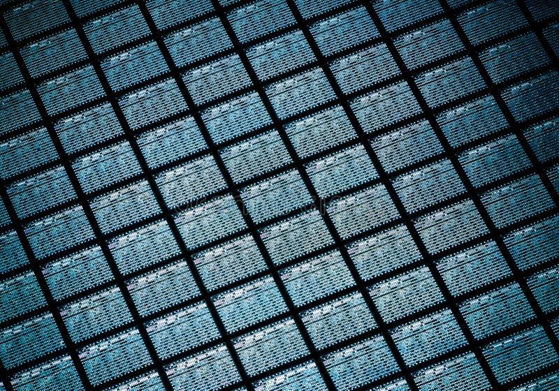 Detail die van Siliciumwafeltje Microchips bevatten stock foto's