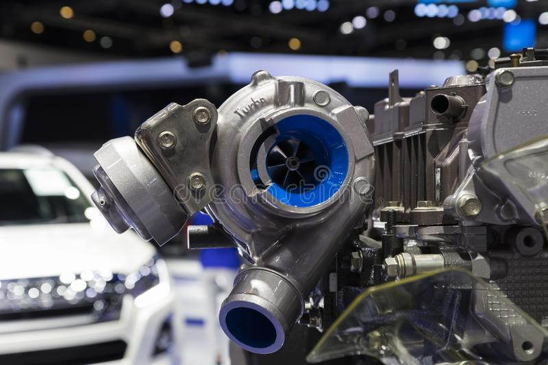 Detail of Diesel Engine stock photography