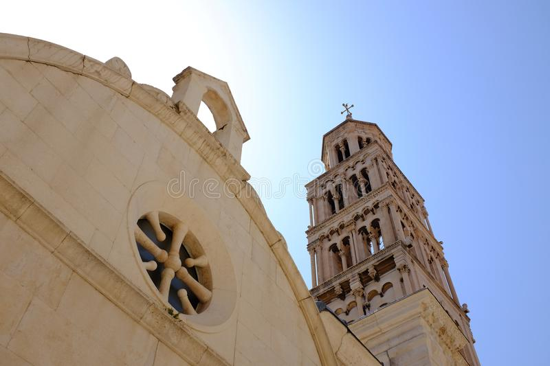 Detail from the Diocletian Palace in Split city, Croatia royalty free stock photo