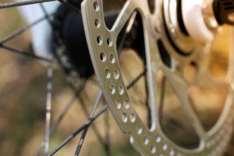 Detail of disk brakes royalty free stock images
