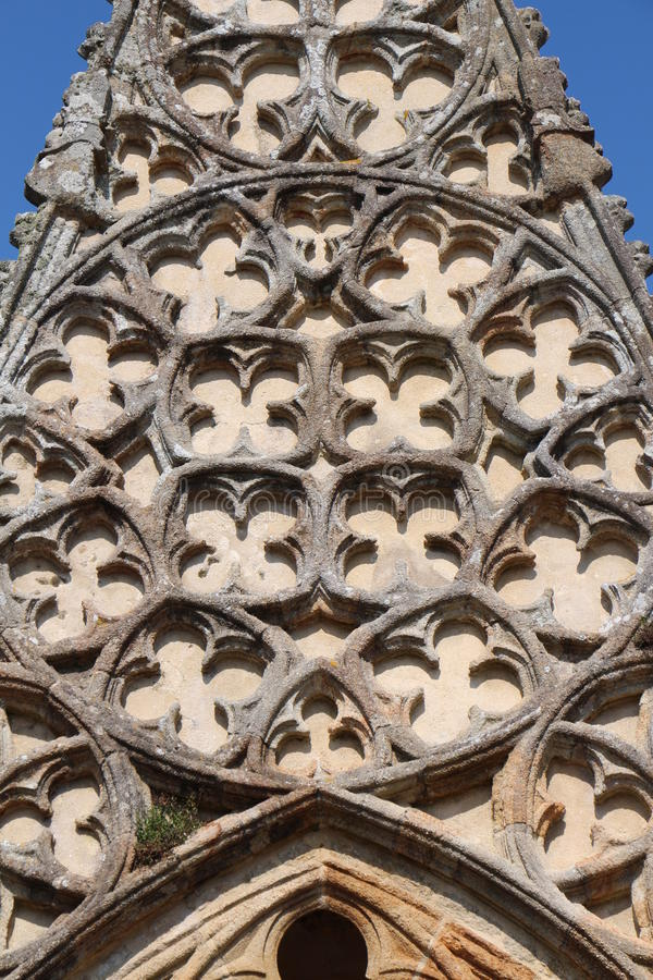 Detail of the doorway of Notre Dame de Roscudon in Pont-Croix royalty free stock photos