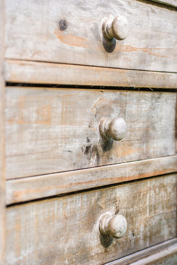 Closed drawers made of wood royalty free stock photography