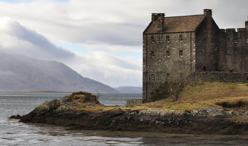 Detail Eilean Donan Castle stock photography