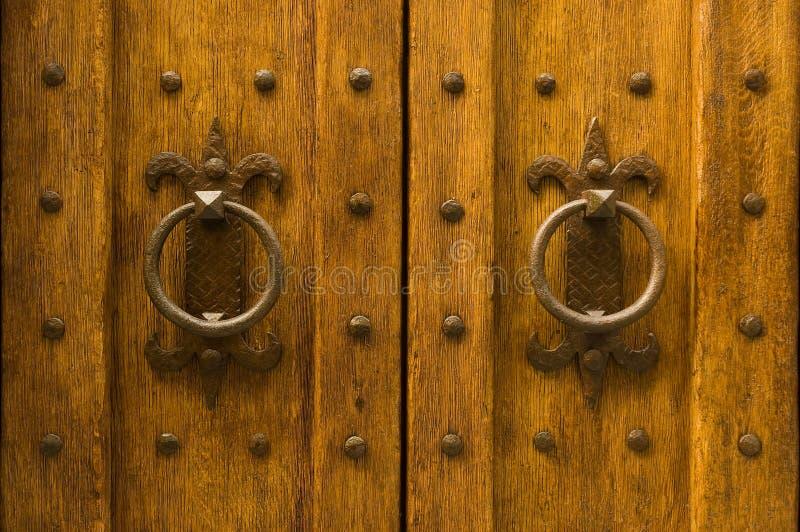 Detail einer alten hölzernen Tür stockfoto
