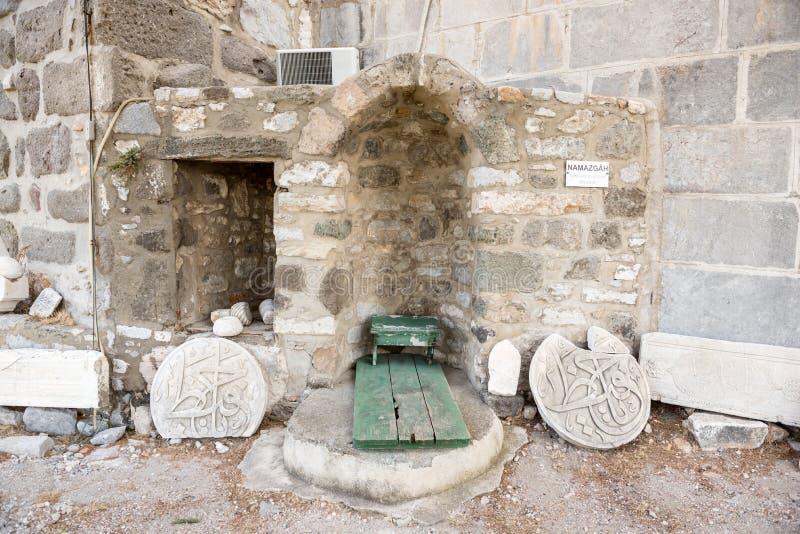 Detail einer alten islamischen Marmorskulptur oder des Stiches lizenzfreie stockfotografie