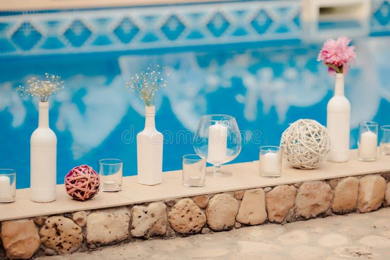 Detail einer Eleganzfarbbandblume lizenzfreie stockbilder