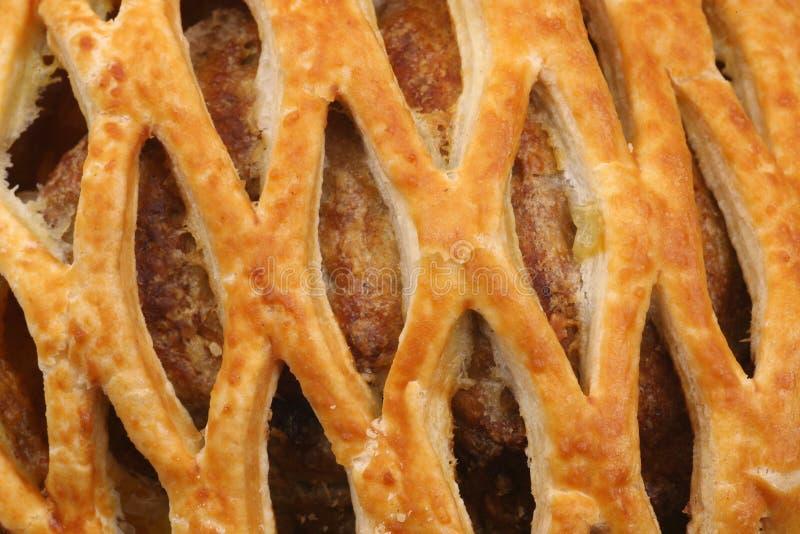 Detail einer Fleischtorte lizenzfreie stockfotos