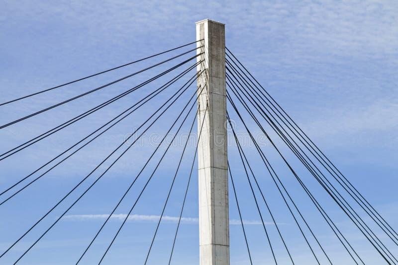 Detail einer Hängebrücke lizenzfreie stockbilder
