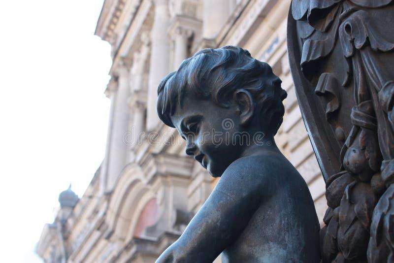 Detail einer Laterne mit den Kindern stockbild