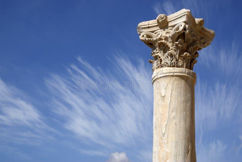 Detail Einer Römischen Spalte Lizenzfreie Stockbilder
